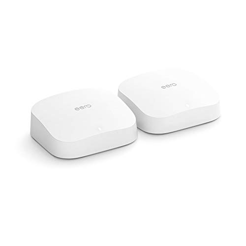 Amazon eero Pro 6 tri-band mesh Wi-Fi 6 system with built-in ZigBee smart home hub (2-pack)