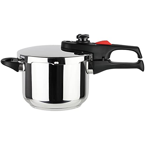 MAGEFESA PRACTIKA PLUS Super-Fast pressure cooker, 18/10 stainless steel, suitable induction, excellent heat distribution, 5-layer encapsulated heat diffuser bottom, 5 safety systems (3.3 QUART)