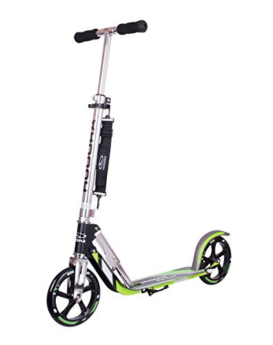 HUDORA 205-14695 Kick Scooters for Children & Teens Aged 6+, Big PU Wheels 205 mm with Folding Mechanism and Strap