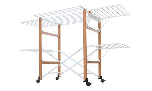 Foppapedretti Casa Gulliver Clothes Drying Rack Color: Maple Light Wood