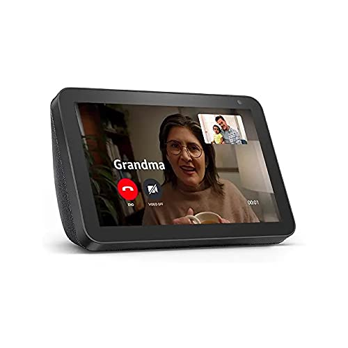 Echo Show 8 (1st Gen, 2019 release) -- HD smart display with Alexa – Unlimited Cloud Photo Storage – Digital Photo Display - Charcoal