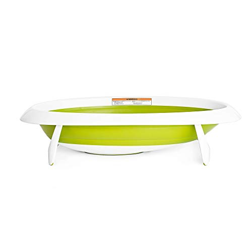 Boon, Naked Collapsible Baby Bathtub Green,Green/White