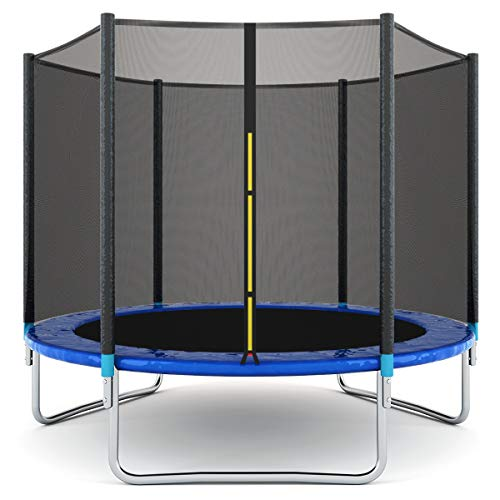 Giantex 8FT 10Ft 12Ft 14Ft 15Ft 16Ft Trampoline with Safety Enclosure Net, Spring Pad, Ladder, Combo Bounce Jump Trampoline, Outdoor Trampoline for Kids, Adults, 8 Ft
