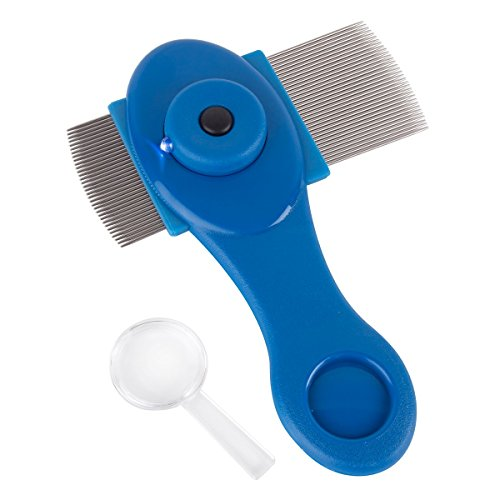 Ezy Dose Kids Lice and Eggs Comb   Hair Care for Baby, Toddler, Adult   Includes Light, Magnifying Glass, Stainless Steel Pin Teeth