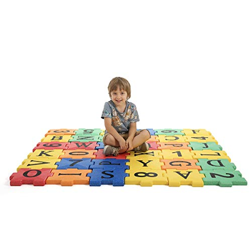 SHAUBEI Puzzle Floor Play Mats EPP Foam Alphabet Interlocking Tiles Exercise Playmats for Kids (36 Pieces)