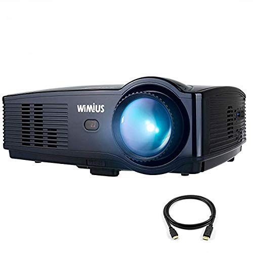 Home Theater Projector, WiMiUS T4 Video Projector Support Full HD 1080P 200' Display, 4000 Lux with 50,000 Hrs Led, Compatible with TV Stick, HDMI, VGA, DVD Player, USB, Xbox, Laptop, iPhone Android