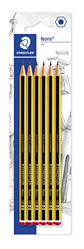 Staedtler Noris 120-2BK6DA Pencil HB Pack of 6 on Blister Card