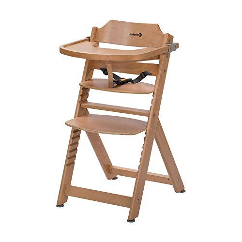 trona evolutiva Timba high chair Natural wood SAFETY