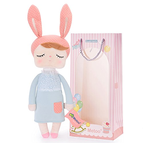 Plush Baby Bunny Doll Girl Gifts Soft First Dolls Easter Angela Girls Toy New Grey 13 Inches + Gift Bag