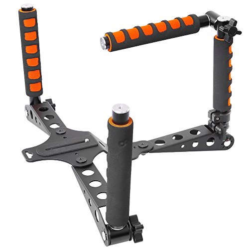 Neewer Aluminium Alloy Foldable Rig Movie Kit Film Making System Shoulder Mount Support Rig Stabilizer for DSLR Camera and Camcorder Such as Canon,Nikon D7100/D7200,Sony A7/A7R/A7S/A7II(Orange)