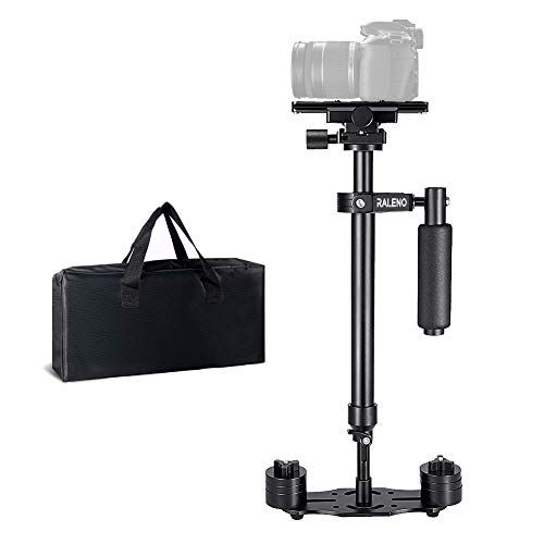 RALENO Handheld Camera Stabilizer Steadicam Aluminium Alloy 24''/60cm with Quick Release Plate 1/4'' and 3/8'' Screw for Canon Nikon Sony and Other DSLR Camera Video DV up to 6.6 lbs/3 kg