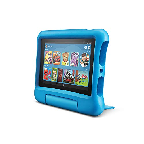 Fire 7 Kids Edition Tablet, 7' Display, 16 GB, Blue Kid-Proof Case