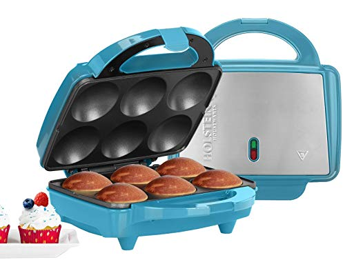 Holstein Housewares HF-09013T for Birthdays, Holidays, or Special Occasions, Makes 6, Teal/Stainless Steel