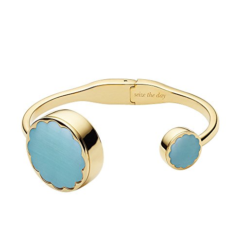 Kate Spade New York Kate Spade Hinge Bangle Tracker Scallop Gold-Tone and Blue Hinge Bangle Activity Tracker Bracelet