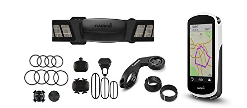 Garmin Edge 1030 Bundle, 3.5' GPS Cycling/Bike Computer with Navigation and Connected features, Includes Additional Sensors/Heart Rate Monitor