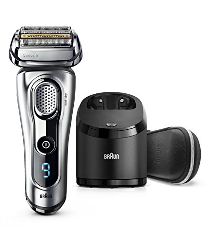 Braun Electric Razor for Men, Series 9 9290cc Electric Shaver With Precision Trimmer, Rechargeable, Wet & Dry Foil Shaver, Clean & Charge Station & Travel Case