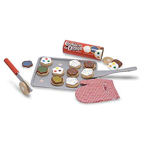 Melissa & Doug Slice-and-Bake Wooden Cookie Play Food Set, Pretend Play, Materials, 28 Pieces, 10.5' H x 13.5' W x 3.25' L