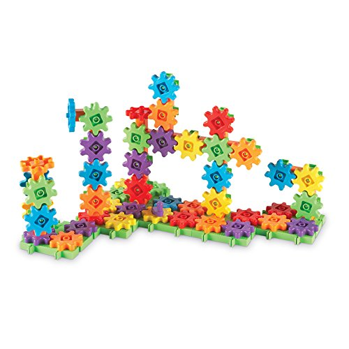Learning Resources Gears! Gears! Gears! Deluxe Building Set, Gear Toy, STEM Learning Toy, 100 Pieces, Ages 4+