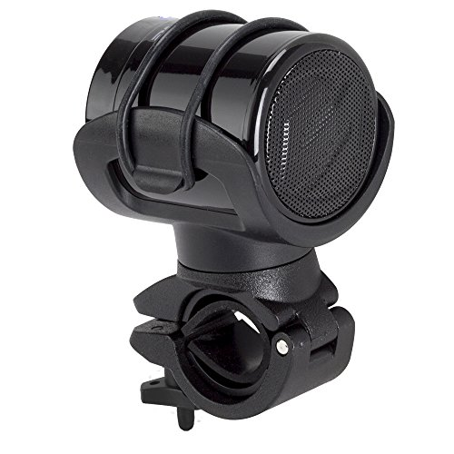 SCOSCHE BMBTCAN BOOMBARS Bike Mount and Portable Bluetooth Wireless Speaker with 3.5mm Aux output for use with Smartphones and iPod?s,Black