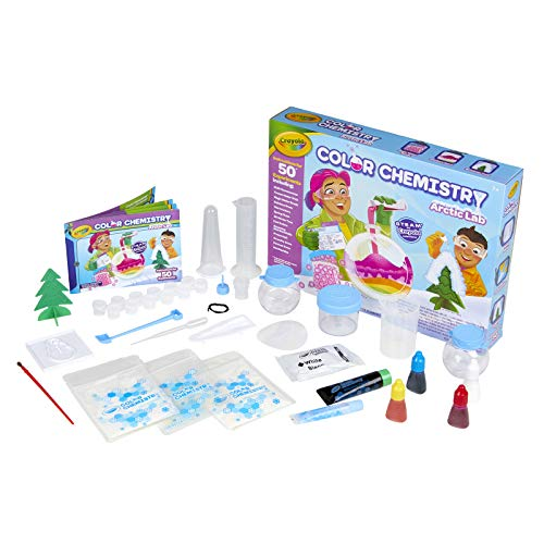 Crayola Arctic Color Chemistry Set for Kids, Steam/Stem Activities, Educational Toy, Ages 7, 8, 9, 10