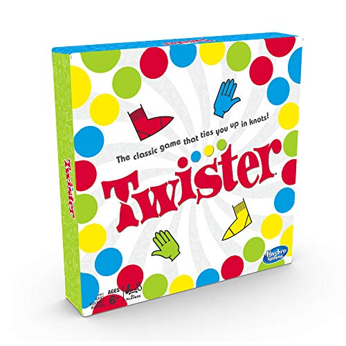 Twister Game, Party Game, Classic Board Game for 2 or More Players, Indoor and Outdoor Game for Kids 6 and Up, Packaging may vary