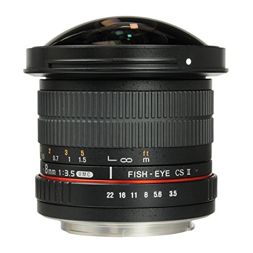 SAMYANG 8 mm f/3.5 UMC CS II fisheye Lens - for Canon