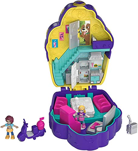 Polly Pocket Pocket World Cupcake Compact with Surprise Reveals, Micro Dolls & Accessories [Amazon Exclusive], multicolor, standard (FRY36)