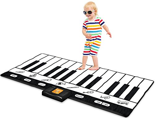 Play22 Keyboard Playmat 71' - 24 Keys Piano Play Mat - Piano Mat has Record, Playback, Demo, Play, Adjustable Vol. - Best Keyboard Piano Gift for Boys & Girls - Original