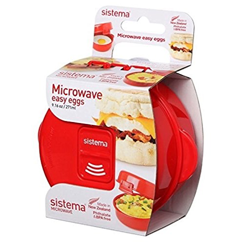 Sistema Microwave Cookware Easy Eggs, Red, 9.16 Oz/271 ml