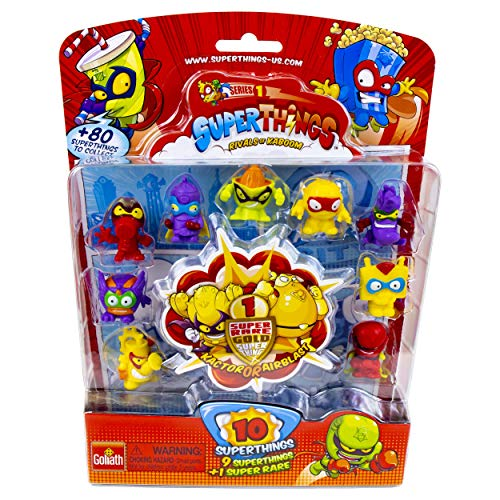 SuperThings Series 1 - Blister Pack (10) by Goliath - Contains 9 SuperThings and 1 Super Rare Gold Character